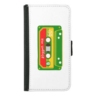 Reggae mix tape cassette Rastafarian Wallet Phone Case For Samsung Galaxy S5