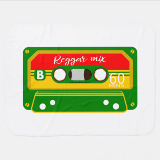 Reggae mix tape cassette stroller blanket