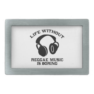 Reggae Music designs Rectangular Belt Buckle