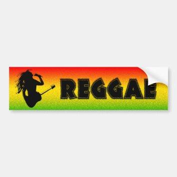 Reggae Music Rasta Rastaman Bumper Stickers
