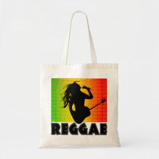 Reggae Music Rasta Rastaman Guitar Budget Tote Bag Tote Bags