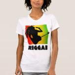 Reggae Music Rasta Rastaman Guitar Womens T-Shirts Tee Shirt
