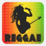 Reggae Music Rasta Rastaman Square Stickers Square Sticker