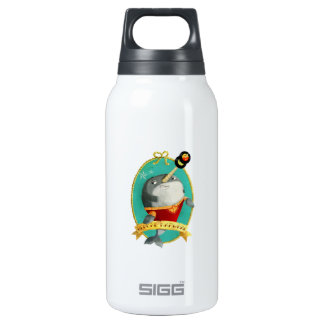 Reggae Narwhal Insulated Water Bottle