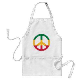 Reggae peace flag adult apron