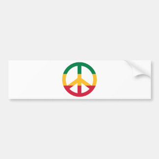 Reggae peace flag car bumper sticker