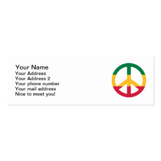 Reggae peace flag Double-Sided mini business cards (Pack of 20)