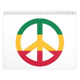 Reggae peace flag calendar