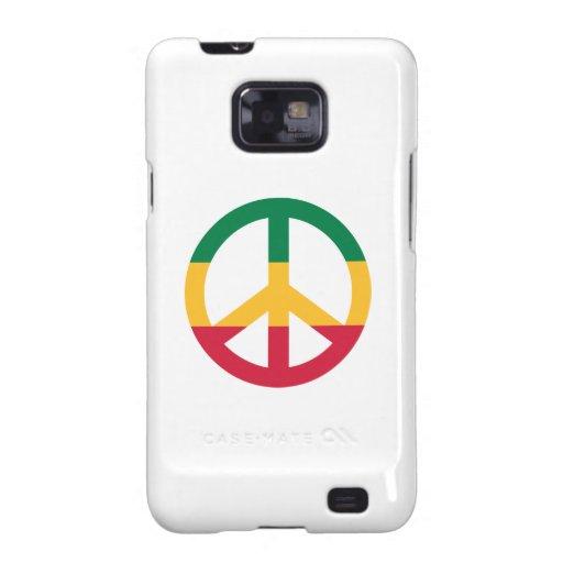 Reggae peace flag samsung galaxy SII covers