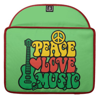 Reggae Peace Love Music MacBook Pro Sleeve