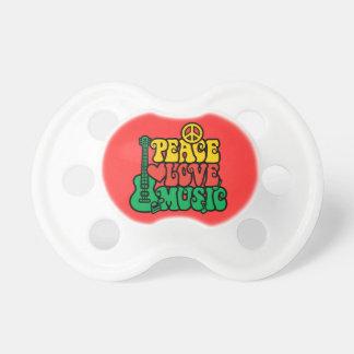 Reggae Peace Love Music Pacifier