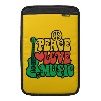 Reggae Peace Love Music Sleeve For MacBook Air