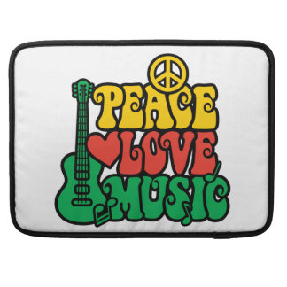 Reggae Peace Love Music Sleeve For MacBook Pro