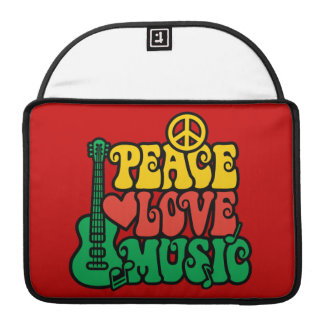 Reggae Peace Love Music Sleeve For MacBooks