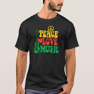 Reggae Peace Love Music T-shirt at Zazzle