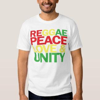Reggae. Peace, Love & Unity T Shirt