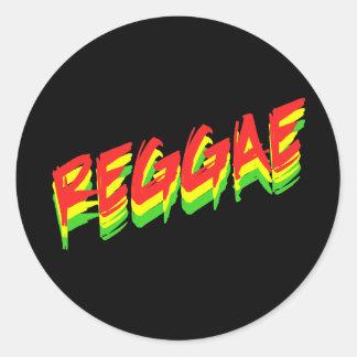 Reggae Etiquetas Redondas