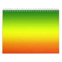 Reggae Rainbow Flag design Calendar