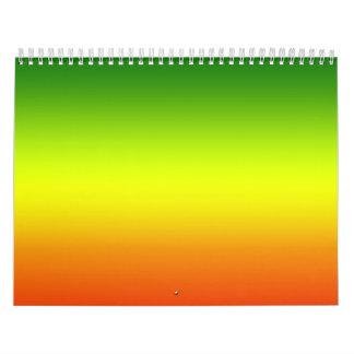 Reggae Rainbow Flag design Calendar