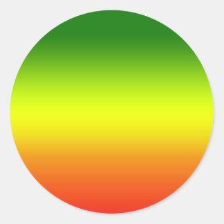 Reggae Rainbow Flag design Classic Round Sticker