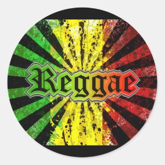 reggae rasta classic round sticker