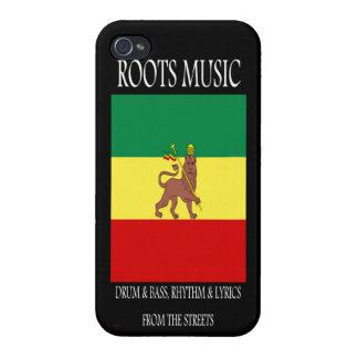 Reggae Rasta de la música de las raíces iPhone 4/4S Carcasas