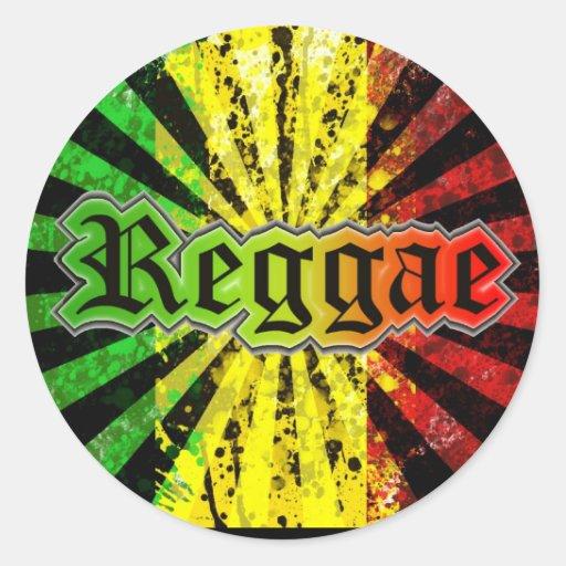 reggae rasta etiqueta redonda