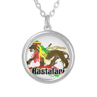 Reggae Rasta Iron, Lion, Zion 2 Silver Plated Necklace