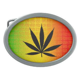 Reggae Rasta Leaf Jamaica Jamaican Belt Buckle Oval Belt Buckle