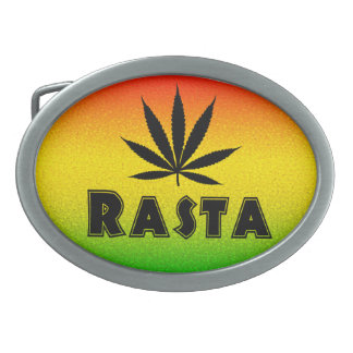 Reggae Rasta Leaf Jamaican Jamaica Belt Buckle Oval Belt Buckles