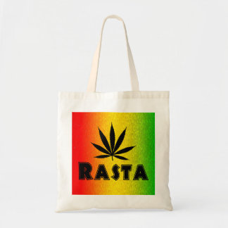 Reggae Rasta Leaf Jamaican Jamaica Budget Tote Bag