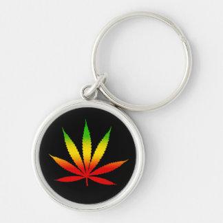 Reggae Rasta Leaf Jamaican Premium Round Keychain
