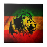 Reggae Rasta Lion Ceramic Tiles