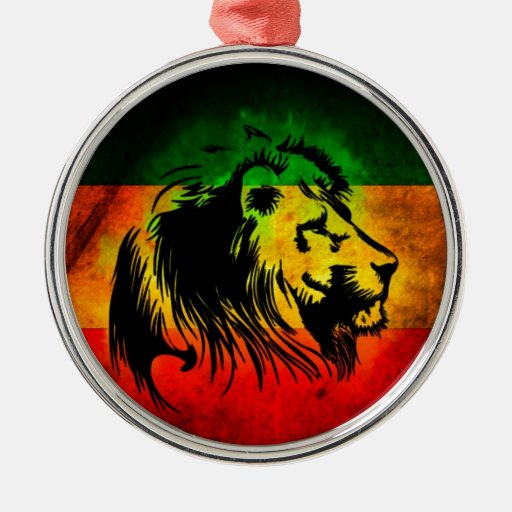 Reggae rasta lion christmas ornaments zazzle