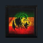 """Reggae Rasta Lion Jewelry Box<br><div class=""""desc"""">Reggae Rasta Lion</div>"""