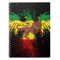 Reggae Rasta Lion Notebook