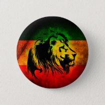 Reggae Rasta Lion Pinback Button