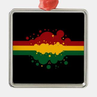 Reggae Rasta Metal Ornament