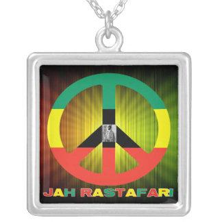 Reggae Rasta Peace Sign Necklace