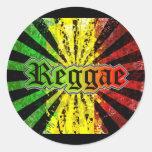 reggae rasta pegatinas redondas
