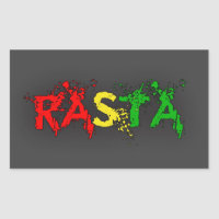 Reggae Rasta Rectangular Sticker