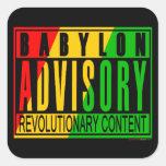 Reggae RASTA Square Sticker