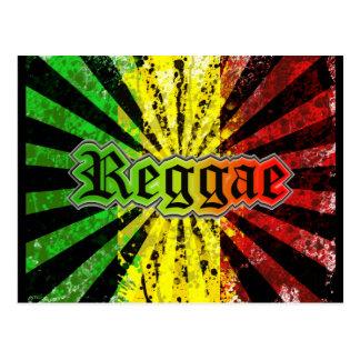 reggae rasta tarjeta postal