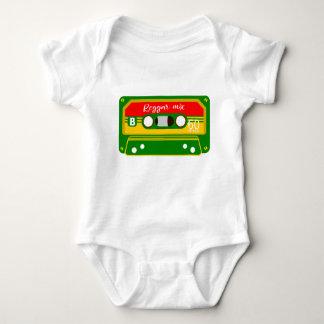 Reggae Rastafarian Colors Mix tape Baby Bodysuit