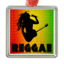 Reggae Rastafarian Premium Square Ornament ornament