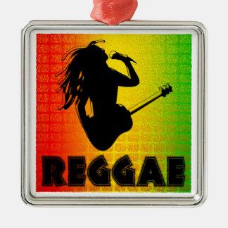 Reggae Rastafarian Premium Square Ornament