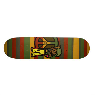 reggae ride. skateboard deck