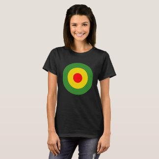 Reggae roundel ladies black T-Shirt