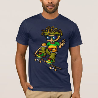 Reggae servant boy skateboarding T-Shirt