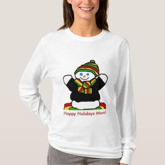 Reggae snowman, Happy Holidays Mon! shirt
